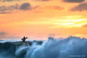 Volcom sunset surf by andreaswinter