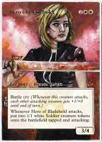 Magic Card Alteration: Hero of Bladehold 2-7-14 by Ondal-the-Fool