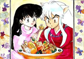 Inuyasha and Kagome 2 by Sailor-Vale