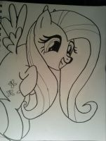 Fluttershy Inked by JamesyBeanZ