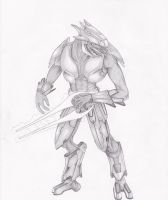 Sangheili Warrior by AetheriumDreams