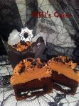 Inside Chocolate Oreo Spider Cupcakes by Corpse-Queen
