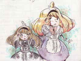 Alice in the Wonderland -Sketches by FantaFumino