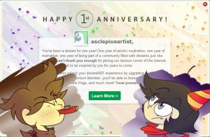 One Year Anniversary by asclepiusartist