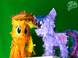 Applejack and Twilight Petite Paper Plushies by C-quel