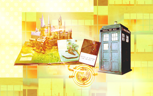 Hogwarts - Tardis Wallpaper by peppermintfrogs