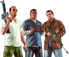 GTA V All protags by TechnoSatan