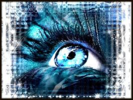 Ice Blue Eye by AngeliqueLuv