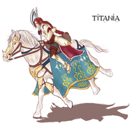 Scarlet Knight Titania by Truebladed
