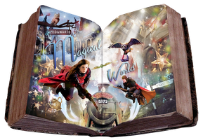 Hogwarts Magical World  Book Blend by VaLeNtInE-DeViAnT