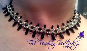 Gothic Crosses Necklace Twin Beads Tutorial Avail by beadg1rl