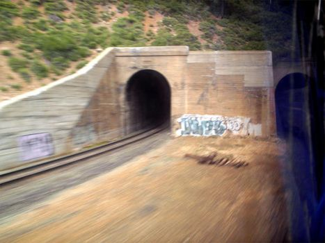 blurry tunnels by theGHOSTofCHE