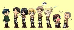 Attack on Titan: Standing in a Line by itsmeagain1004