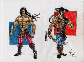 Liu Kang and Kung Lao Design by soysaurus1