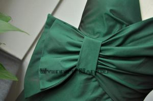 Green Cotton Bow Shirft Dress8 by yystudio