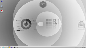 My Current Windows Desktop in Monochrome by rvc-2011