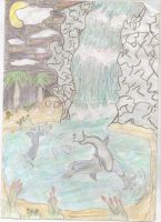Dolphins playing by animegrl7979
