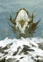 Snow mountain of big yak by ZERG118