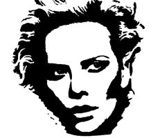 woman portrait stencil by Farhadine