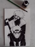 Kakashi and Naruto finished by CatStudio7