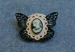 Clockwork Cameo Butterfly by SleeplessStoryteller