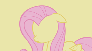 . MLP Wallpaper . Fluttershy . Minimalistic . by Flows-Backgrounds