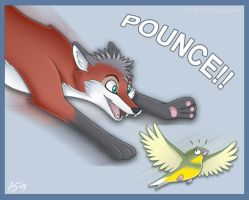 Xai Pouncing Olive by Articuno