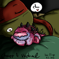 Chompy and Raphael 11-5-16 by Nei-Ning