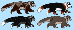 Red Panda Adoptables :OPEN: by Okami-Heart