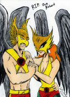 Hawkman and Hawkgirl Joe Kubert Tribute by WibbitGuy