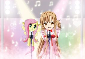 .: Asuna and Fluttershy Duet: Love and Kindness :. by Sincity2100