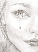Tear Face by e5ther