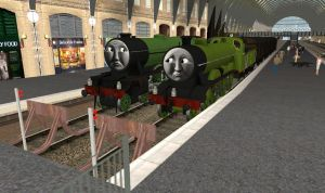 What if Henry and Gordon met before Sodor? by OkamiTakahashi