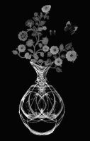 Flowers In A Fractal Vase by VisualPoetress