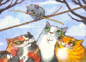 ACEO - High Wire Act by KootiesMom