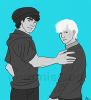 Echo and Alex by kafers