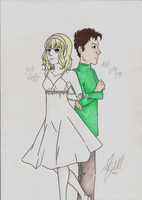 OC's Bell and Neil - coloured by ivy11