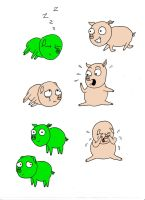 The Little Green Pig by The-Hellish-Gnome