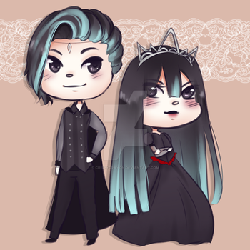Aiden and Camille by CrispyCrayon