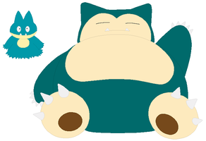 Munchlax and Snorlax Base by SelenaEde