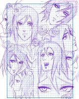 Konan notebook sketches by Silenthustler9000