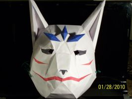 fox mask papercraft by Draco3013