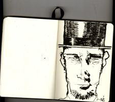 Drawing Day 2010 1 - Abe by zeruch