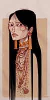 Apache Woman I by Nibilondiel