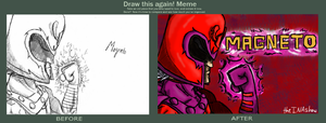 Before and After: My Magneto Fanart by theINAshow