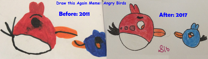 Draw this Again Meme Angry Birds by Sparklecat16