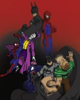 Batman Spider-man Team up by AaronDarkk