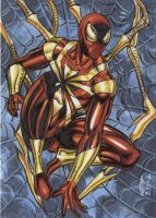 IRON SPIDER MAN SKETCH CARD 2012A by AHochrein2010