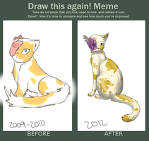 Before and After [Meme] Brightheart by MorningDesiree