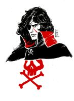 Space pirate captain Harlock by Vranckx